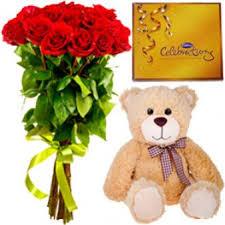 flowers chocolate teddy birthday hyderabad