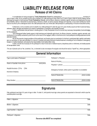 Basic Liability Waiver Form Fascinating Liability Release Form Bravebtr