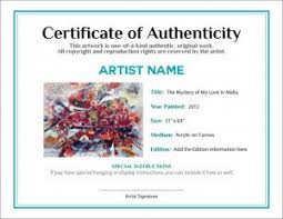 Do You Attach The Certificate Of Authenticity Coa On The Back Or