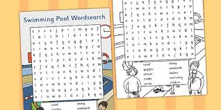 Pool Word Swimming Pool Wordsearch Swimming Pool Wordsearch Words Eal