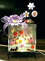 glass block decoration crafts ideas projects craft flowers decora glass block crafts ideas