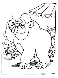 Kleurplaat Gorilla Bokito Ontsnapt Kleurplatennl