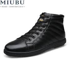<b>MIUBU Brand</b> Big Size Men Shoes Fashion Winter <b>Leather</b> Ankle ...