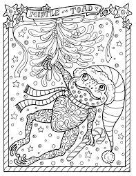 Kikker Afdrukbare Kleuren Pagina Kerst Grote Toad Volwassen Etsy