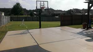 klomp family pics with awesome outdoor basketball court backyard