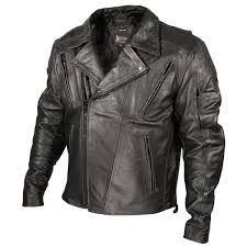 xelement armored mens black classic rider blackout leather motorcycle jacket freds cycle parts and stuff
