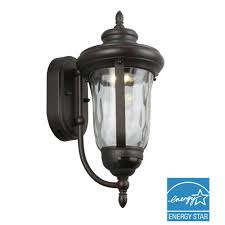 bronze motion sensor outdoor integrated led medium wall mount lantern