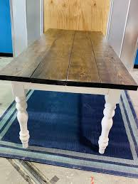7ft rustic farmhouse table with turned