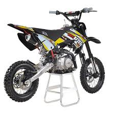 racing km125mx 125cc 82cm yellow pit bike