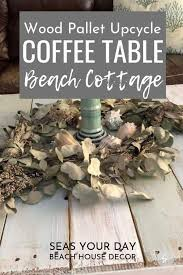 diy beach cottage coffee table from