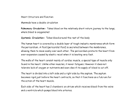 the heart structure and function a level science marked by  document image preview