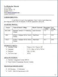 Sample Resume For Freshers Bsc Computer Science Resume Templates