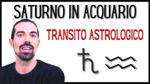 Saturno in Acquario 🪐♒ 2020 - 2022 - YouTube
