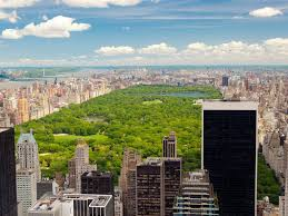 nyc landmark central park from above