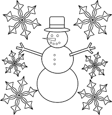 Small Picture Snowflakes And Snowman Coloring Page Coloring Home