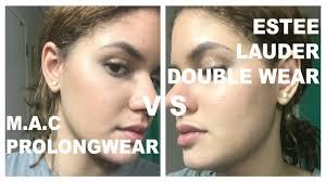 foundation battles estee lauder double wear vs m a c prolongwear 12 hrs of wear