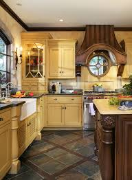yellow country kitchens. French Country Kitchens Can Be Like This Traditional Normandy Kitchen Via  Houzz Yellow Country