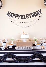 party black white gold birthday party