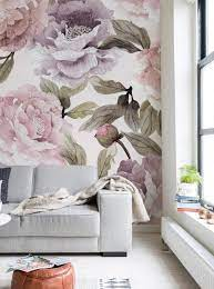 Flowers Bloom Wallpaper Decals Accent ...