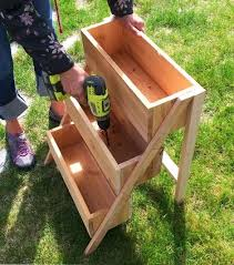 Ana White | Build a $10 Cedar Tiered Flower Planter or Herb Garden | Free  and