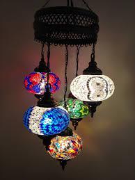 5 lamps chandelier turkish lamps moroccan lantern hanging mosaic light