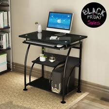 Corner office computer desk Curved Home Office Computer Desk Pc Corner Laptop Table Workstation Furniture Black Ebay Corner Computer Desk Ebay