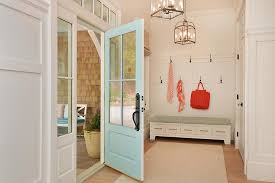 turquoise front doorTurquoise Front Door  Cottage  Laundry Room