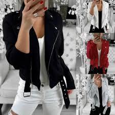 <b>Women</b> Fashion Tops Coats <b>Long Sleeved Zipper</b> Jacket Outwear ...
