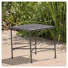 black iron outdoor furniture. modren iron petra square iron patio side table  black christopher knight home to outdoor furniture