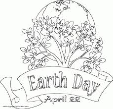 Free Earth Dayloring Sheets Printable Pages For Kids Activities