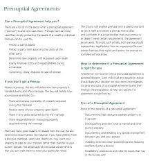 Sample Prenup Prenuptial Agreement Template Madebyforay Co
