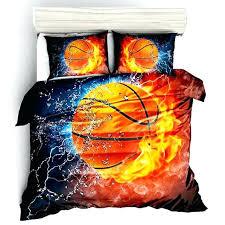 fire flame basketball bedding sets sports novelty decorative set soft king queen sport style duvet nba