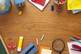 school desk background. Contemporary Desk School Supplies On Desk Background With Copy Space Stock Photo Throughout School Desk Background H