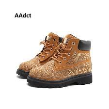 <b>AAdct autumn new fashion</b> Rhinestone girls boots Brand High ...