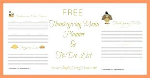 Holiday Meal Planner Template