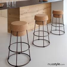 bouchon barstool by domitalia cork metal