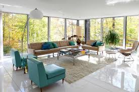 living room: Remarkable Floor Lamp Between Sofa On Glossy Flooring Under  Beige Sofa In Interior
