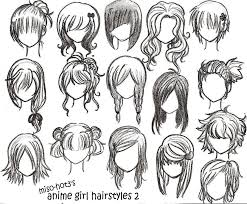 anime hairstyles for girls sketch. Anime Girl Hair Hairstyles Intended For Girls Sketch