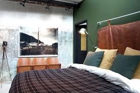 Splendid Bachelor Pad Men Bedroom Ideas Bedroom Ideas For Bachelors  Industrial Bedroom With A Cool Headboard And A Green Wall Bachelor Bedroom  Ideas On A ...