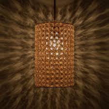 hanging lamps crystal hanging copper barrel pendant rose gold hanging ceiling light large