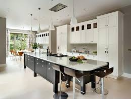 long kitchen island ideas inspiration for a large transitional eat in kitchen remodel in surrey with
