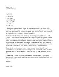 Query Letter Format How To Write A Query Letter Business Letter Example