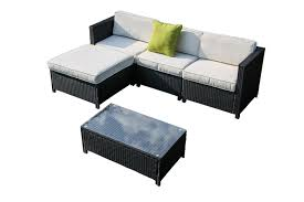 patio furniture couch coffee table set black pf18247
