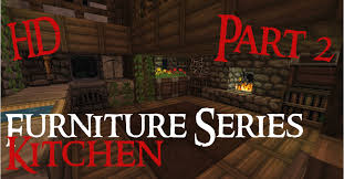 Minecraft Furniture Kitchen Minecraft Medieval Furniture Series Part 2 The Kitchen Hd