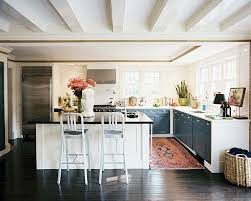 black and white kitchen rug beautiful kitchen lots of windows dark wood floors black