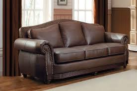 dark brown leder sofa nailhead sofa