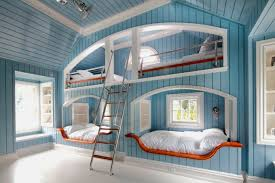 builtin bunk beds view full size spectacular custom nauticalthemed blue boyu0027s bedroom with vaulted beadboard ceiling and walls cool bunk beds built into wall e18 cool