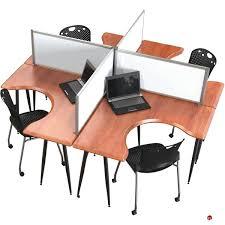 picture of cer of 4 person l shape office desk mobile workstation