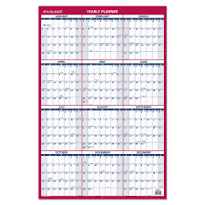 2019 Calendar Horizontal Erasable Vertical Horizontal Wall Planner By At A Glance Aagpm2628