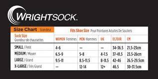 Wrightsock Sizing Chart Care Instructions